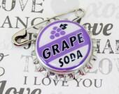 Ellie Badge Grape Soda PIN - LP -  Personalized - Wilderness Explorer - Wedding Groom Gift