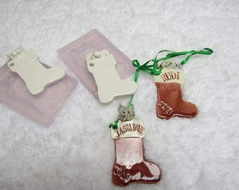 Molds for Whimsical Pet Christmas Stocking Molds for Chocolate, Cake Decorating, Fondant, Resin, Clay,  etc.
