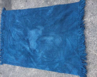 Teal Blue 100% Organic Cotton Rug, Washable and Dryable
