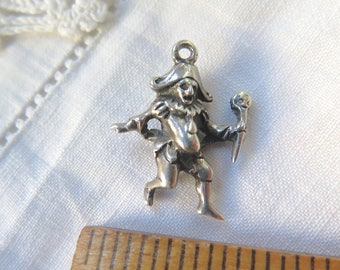Sterling Silver Bracelet  Charm Court Jester 23mm Signed