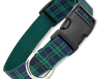Plaid Dog Collar, Blackwatch Tartan