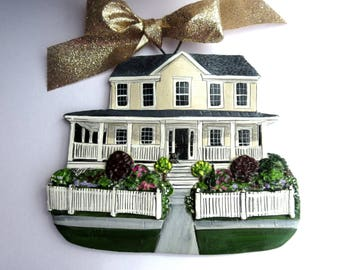 Custom listing for-  Emily S.- one Custom House Ornament- a cherished keepsake of your home- Second week of January