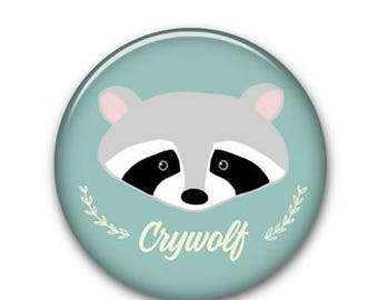 "Raccoon CW 1"" Button"