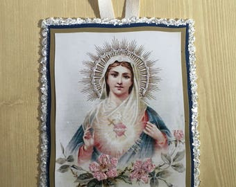 Sacred Heart Of Mary Greeting Card And Paper Ornament
