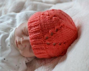 Pick Your Colour 0 - 3 Months Baby Girls Beanie Hat, Uk Hats, Knitted Hat, Baby Shower Gift