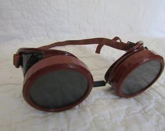 Vintage Safety Glasses Welsh  Mfg. Co Type B glasses Steampunk