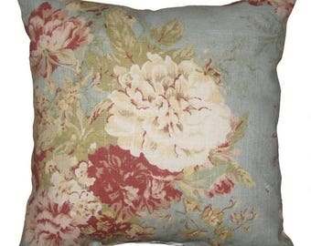 Ballad Bouqet Robins Egg Floral Decorative Throw Pillow - Free Shipping