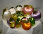 Vintage Artificial Silk/Satin Fruit Decorations - Mix & Match #2
