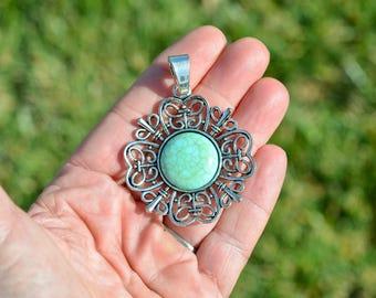 1 Decorative Imitation Turquoise Pendant  SC5259