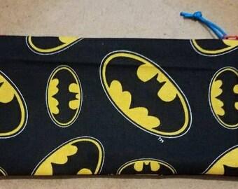 Batman/Superman zipper bag