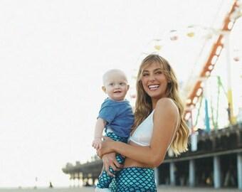 XMAS in July 25% off SALE baby mermaid leggings, baby leggings, baby pants, baby mermaid pants, toddler leggings, kids mermaid leggings, mam