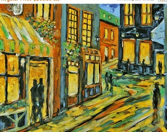 On Sale Urban Lights  Original Oil Painting created by Prankearts
