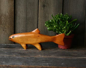 Vintage Wood Fish For Home Decor Sportsman Hand Made Vintage From Nowvintage on Etsy