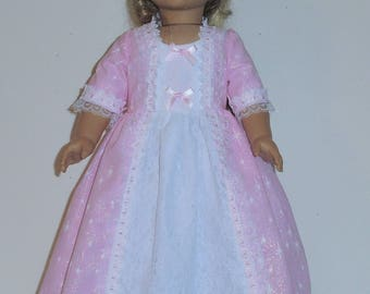 Princess Style Colonial  dress Created for American Girl doll  Felicity or Elizabeth 3 piece outfit No. 716