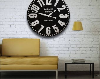 FARM HOUSE Clock 24in Bold Paris Large Wall Clock-Oversized Clocks-Family Heirloom-Free Inscription