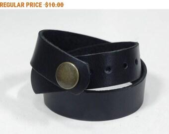 Black Leather Wrap Bracelet Leather Cuff Leather Bracelet