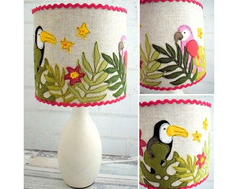 Tropical Bird Lampshade pattern pdf instant download
