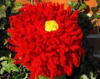 40% OFF SALE Instant Digital File PDF Download knitting pattern - Dahlia Flower Beanie Hat pdf download knitting pattern  -  madmonkeyknits
