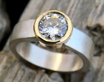 Engagement Ring Handmade by Wild Prairie Silver Jewelry