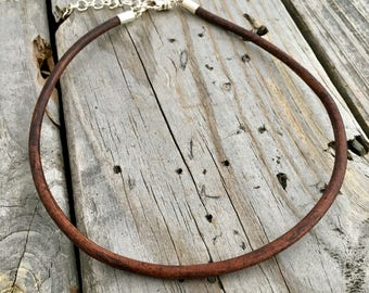 Leather Cord Necklaces Brown Leather 4mm Wild Prairie Silver Jewelry Joy Kruse
