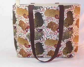 PREORDER Sheep and Rams Zippered Tory Tote Premium Fabric