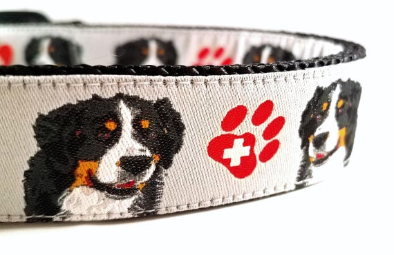 Bernese Mountain Dog Collar / Berner / Bernese Cattle Dog / Berner Sennehund / Swiss / St Bernard / Large Dog Collar / Mastiff