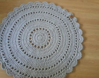 Crochet Dolly Rugs gray color
