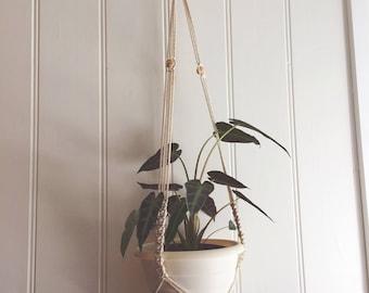 Macrame Plant Hanger - Orbit, Large - Medium Natural Cotton Rope Hanger, Hanging Planter   Made to Order  Free Shipping Australia
