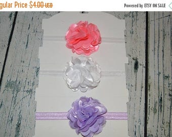 ON SALE Flower Headband You Choose Color, Large Flower Stretch Headband, Pink Lavender white Headband,  Newborn Photo Prop, You Pick Color