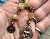 The Loving Kindness Mala in Copper and Yellow (industrial) Diamonds. A fundraiser for Alzheimers Research