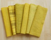 Canary - Yellow - Hand Dyed Felted 100% Wool Fabric - Rug Hooking, Quilting, Applique, and Sewing, by Quilting Acres