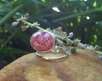 Pink Peony Ring