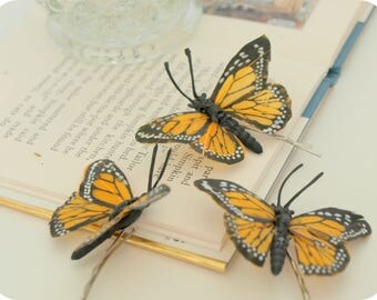 MONARCH Beauty Butterfly Single Bobby Pin, Bridal Head Piece, Bridal Bobby Pin, Woodland Goddess, Bridesmaids, Garden Wedding, Gypsy, Fly