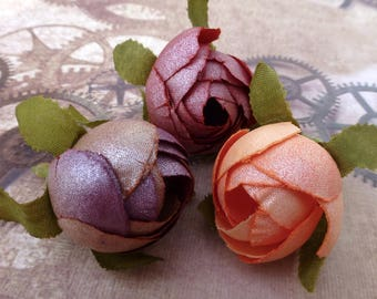 Silk Flower Buds for Decorating Millinery Arranging Mix of 15
