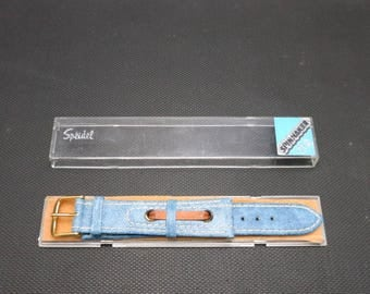 Vintage watch band NOS Denim Seventies Speidel