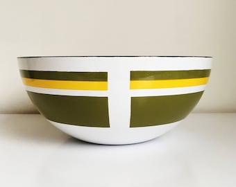 Skoal of Norway Rare Large Enamelware Bowl