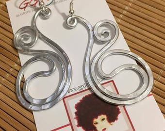 FLY: Bangin Beauties hammered aluminum wire earrings