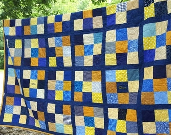 Patchwork Quilt Queen Size 92X92 all cotton blanket,Personalized, Celebrate Sports Teams , Activities, Unique Gift for Dedicated Fan, Mom