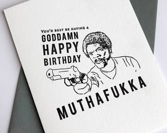 Letterpress Birthday card - Muthafukka