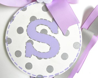 Personalized Round Hand Painted Hair Bow Holder - Bow Holder - Hairbow holder - barrette holder