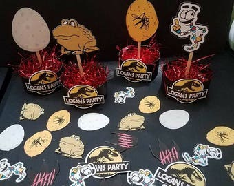 Pre-Order Ships Feb. 20th Jurassic Park Centerpieces and Table Scatter Confetti for Party Decorations