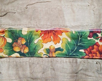 Vintage Ribbon. Vintage Wire Ribbon. Orange Brown Ribbon. 1970s Ribbon. Vintage Trim. Fall Leaves Seed Pods. Vintage Supplies. Vintage Sew