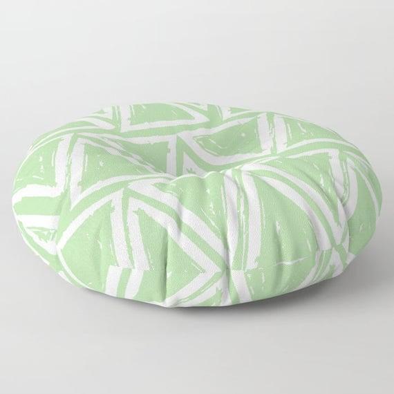 Green floor cushion - Round cushion - Fern Green Pillow - Round pillow - Floor pillow - Geometric pillow - 26 inch pillow - 30 inch pillow