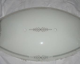 Mid Century Large Glass Ceiling Light Cover Shade Globe  2 Holes