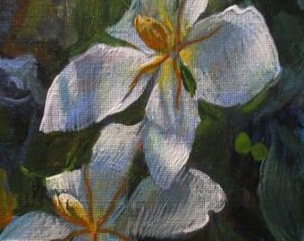 Gardenias - original daily painting by Kellie Marian Hill