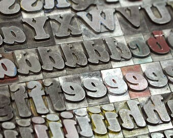 YOU PICK - 72pt Metal Letterpress - Cooper Black Italic