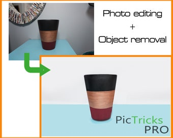 Object Removal + Photo editing [ Photoshop / Photo editing / Photo enhance / Clipart ]