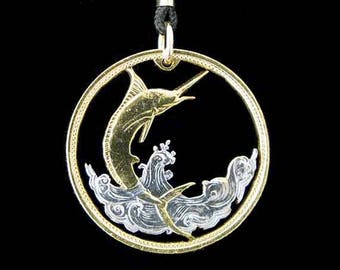 Cut Coin Jewelry - Pendant - Bahamas - Blue Marlin