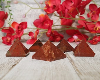 Red Jasper Gemstone Pyramid - Stone for the Lifeblood of Earthen Energy