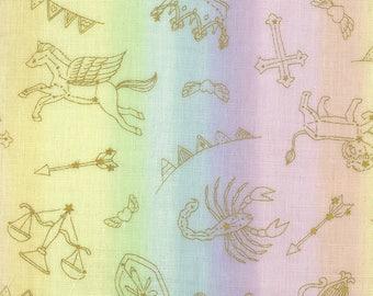 Kokka Japanese Textiles - DOUBLE GAUZE Horoscope in Pastel